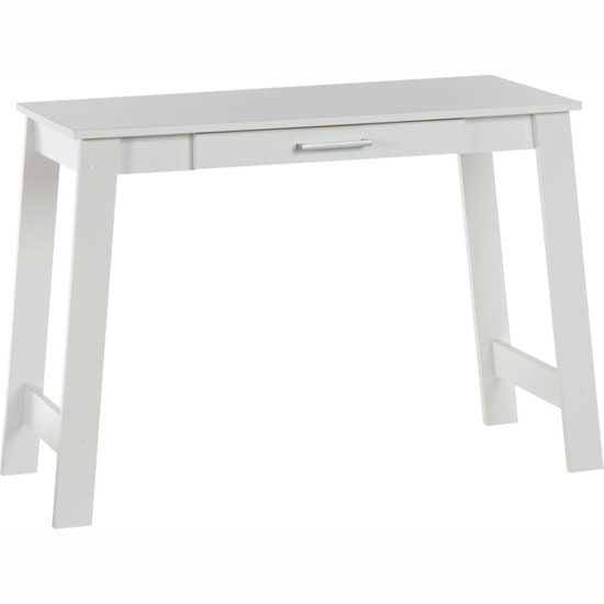 Colorado Laptop Desk In Soft White With 1 Drawer_2