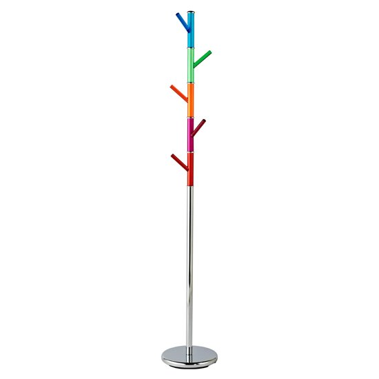 Contemporary Metal Coat Stand In MultiColour