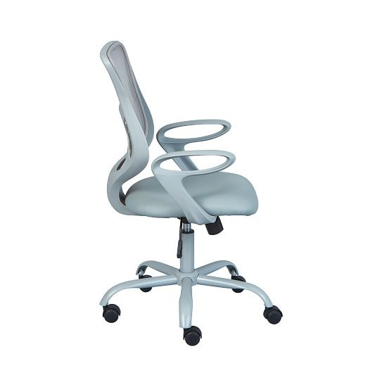 Coltene Home Office Chair In Grey PU And Mesh With Castors_2