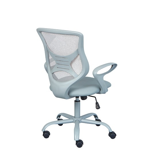 Coltene Home Office Chair In Grey PU And Mesh With Castors_3