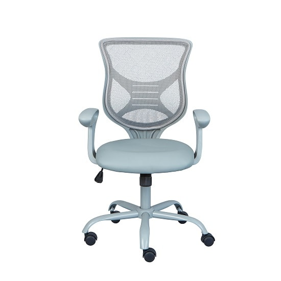 Coltene Home Office Chair In Grey PU And Mesh With Castors_4