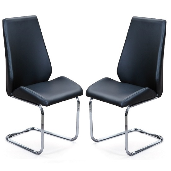 Colton Dining Chair In Black Faux Leather In A Pair : coltondiningchairblackpair from furniturecompare.uk size 550 x 550 jpeg 26kB