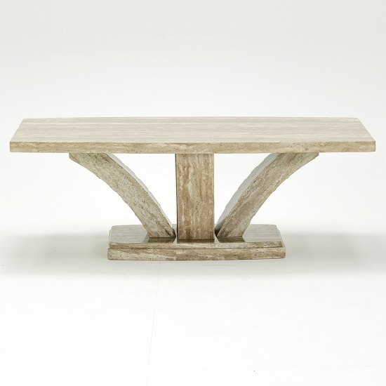 kati marble effect coffee table in cream go
