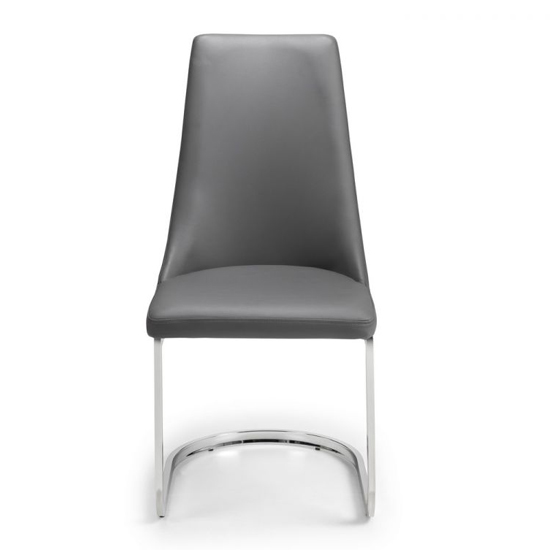 Como Grey Faux Leather Cantilever Dining Chair In Pair_2