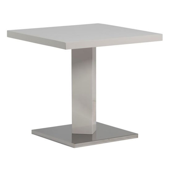 Como Square Dining Table In White High Gloss