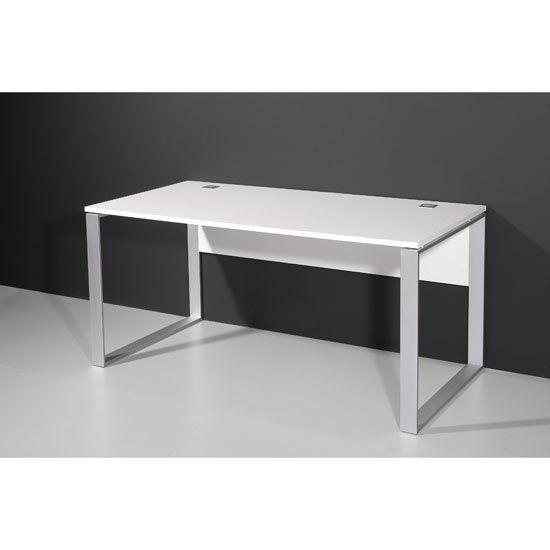 Compact computer trolley in white with rollers now only £99.95