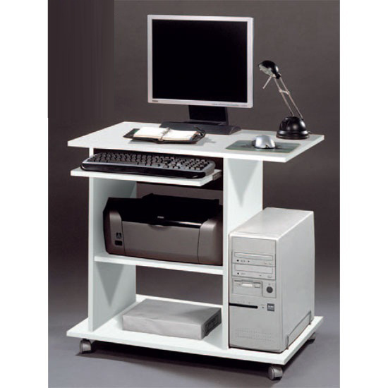 Stylish Office Computer Desk In White