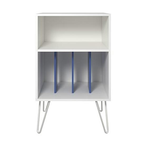 Concord Turntable Bookcase In White And Blue_3