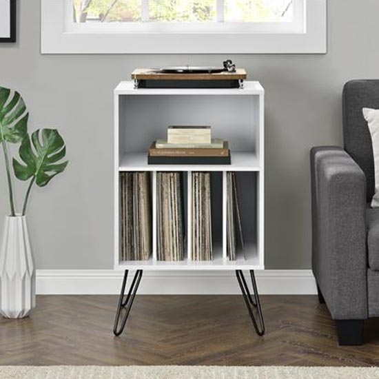Concord Turntable Bookcase In White
