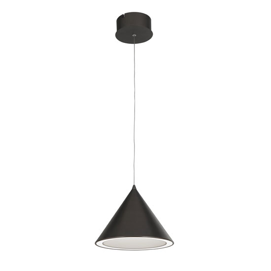 Conical 1 LED Pendant Light In Black