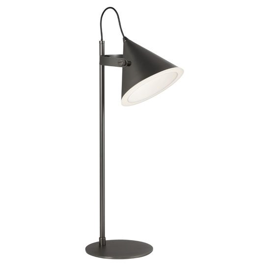 Conical LED Table Lamp In Black