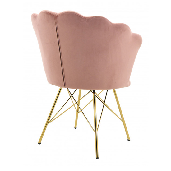 Conrad Velvet Dining Chair In Pink_2