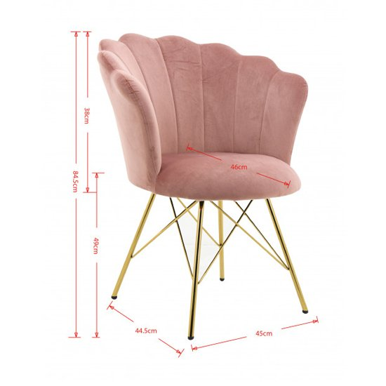 Conrad Velvet Dining Chair In Pink_3