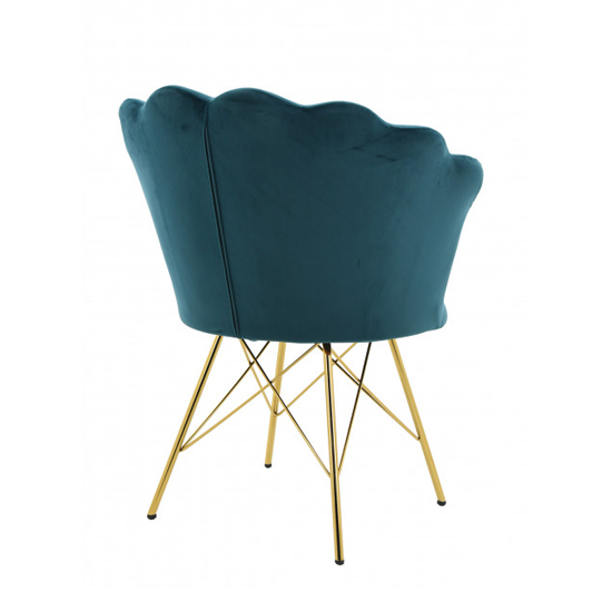 Conrad Velvet Dining Chair In Teal_2