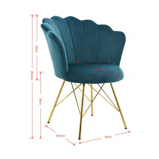 Conrad Velvet Dining Chair In Teal_3