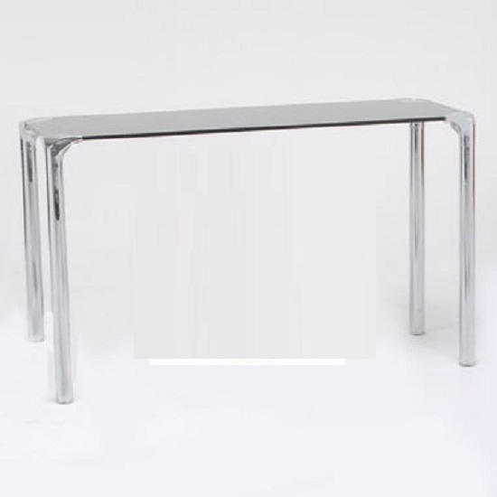 Photo of Polar black glass console table