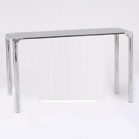 Polar Black Glass Console Table