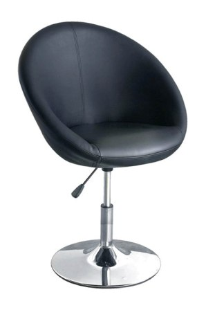 Oval bistro chair In Black With Gas Lift Action
