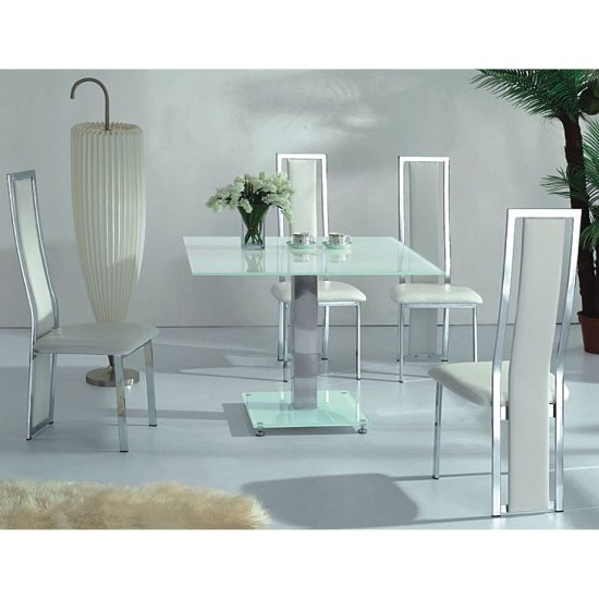how to pick large square dining tables - White Glass Dining Table
