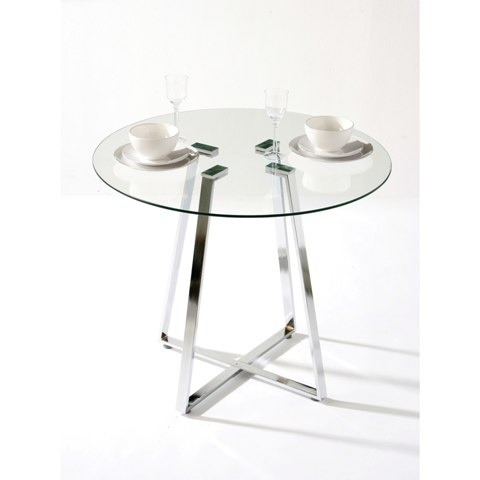 Melito Round Glass Dining Table 2401691 3293 Furniture In
