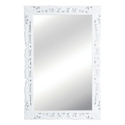 White Framed Wall Mirror | Sevenstonesinc.com