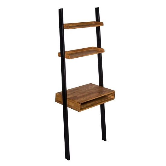 Contra Wooden Ladder Desk In Oak And Black Finish