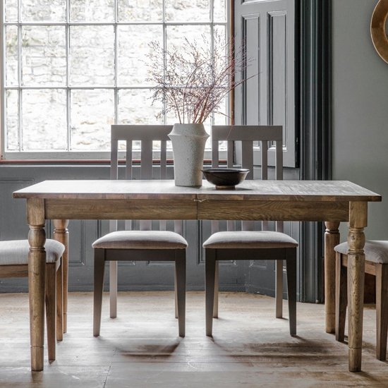 Cookham Wooden Extending Dining Table In Oak
