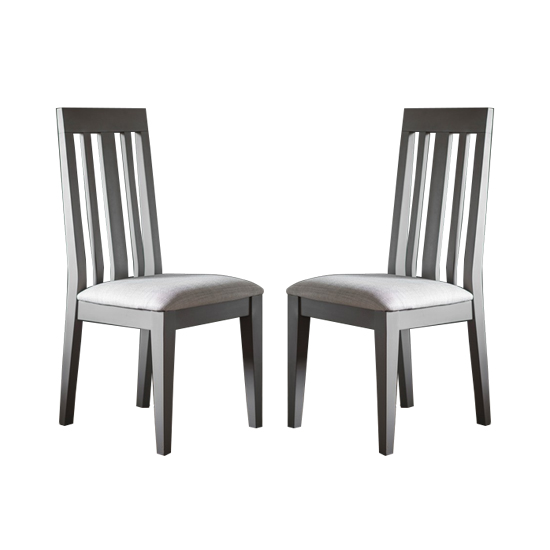 Cookham Wooden Grey Dining Chair In Pair