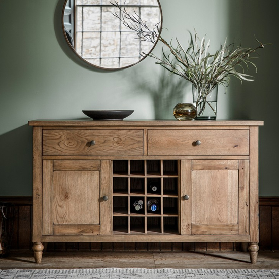 Cookham Large Sideboard In Oak With 2 Doors And 2 Drawers_1