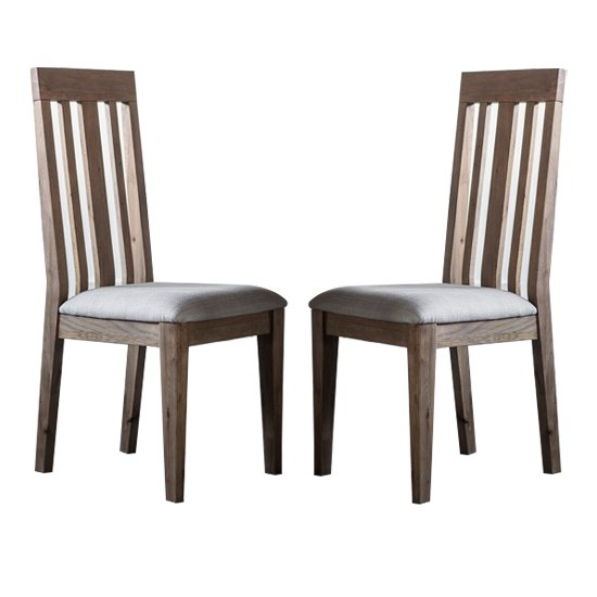 Cookham Wooden Oak Dining Chair In Pair