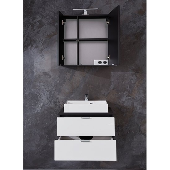 Coone LED Bathroom Furniture Set 1 In White Gloss And Graphite_2