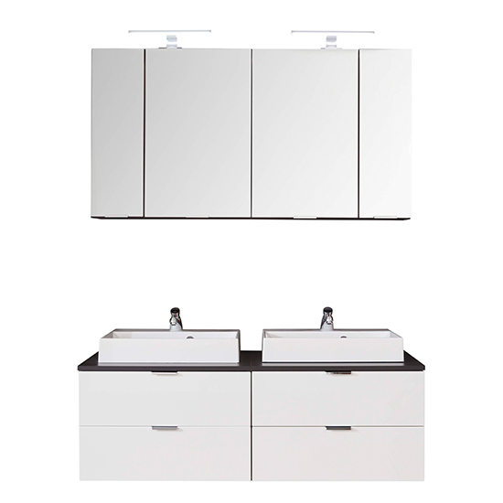 Coone LED Bathroom Furniture Set 2 In White Gloss And Graphite_6