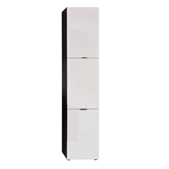 Coone Bathroom Storage Unit In White High Gloss And Graphite_3