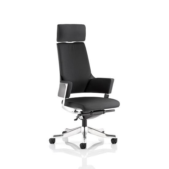 Cooper Office Chair In Black Fabric With High Back