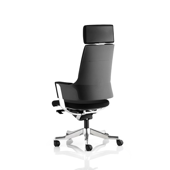 Cooper Office Chair In Black Fabric With High Back_2