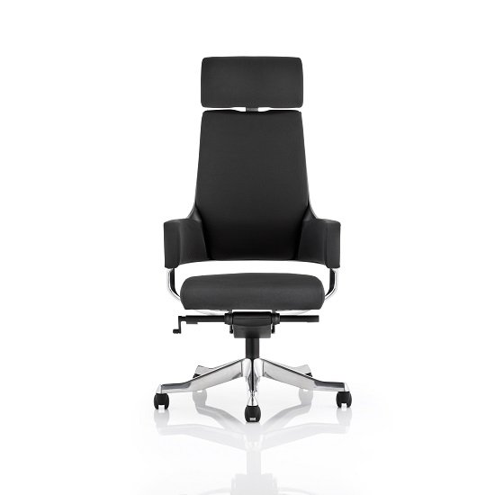 Cooper Office Chair In Black Fabric With High Back_3