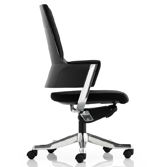 Cooper Office Chair In Black Fabric With Medium Back_4