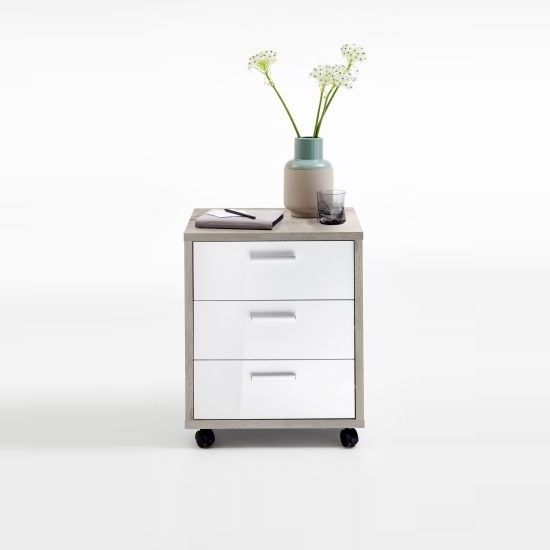 Cooper Office Cabinet In Sand Oak And White High Gloss_2