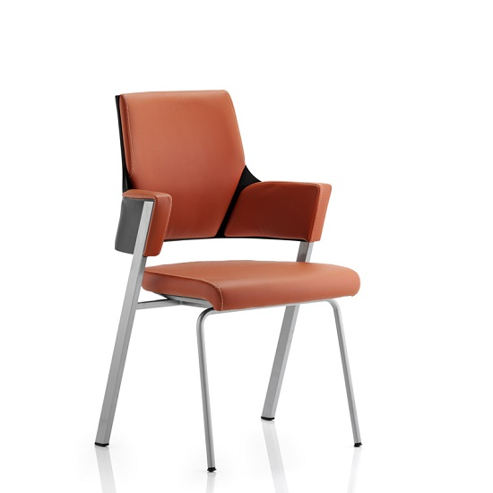 Cooper Visitor Office Chair In Tan Bonded Leather