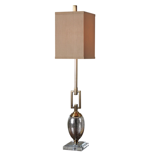 Copeland Mercury Glass Table Lamp With Coffee Bronze Details