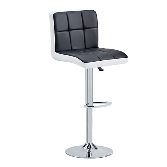 Copez Faux Leather Bar Stool In Black And White_1