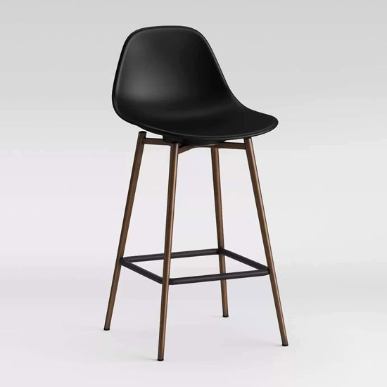 Copley Plastic Counter Bar Stool In Black