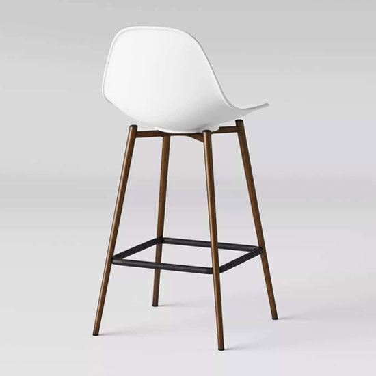 Copley Plastic Counter Bar Stool In White_2