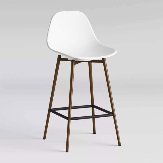 Copley Plastic Counter Bar Stool In White_1