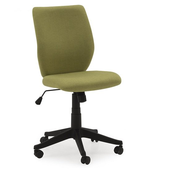 Coppice Fabric Office Chair In Green With Castors