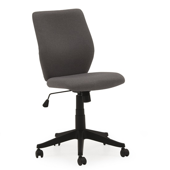 Coppice Fabric Office Chair In Grey With Castors