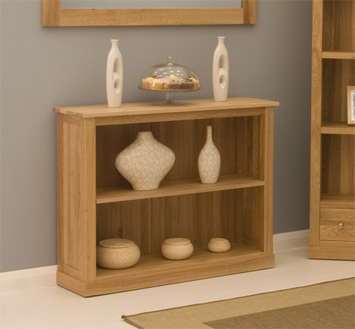Artisan Contemporary Low Bookcase In Oak