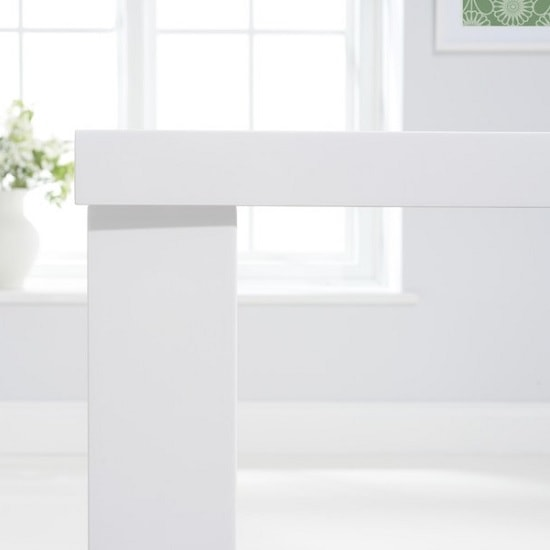 Corano Dining Table Rectangular In White High Gloss_2