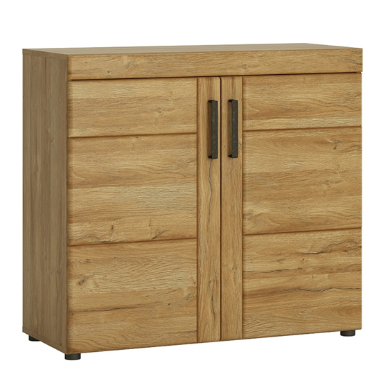 Corco Wooden 2 Doors Storage Cabinet In Grandson Oak