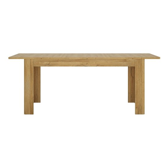 Corco Extending Wooden Dining Table In Grandson Oak